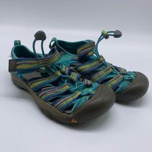 Keen Waterproof Sandal Blue Purple Big Kids Size 2